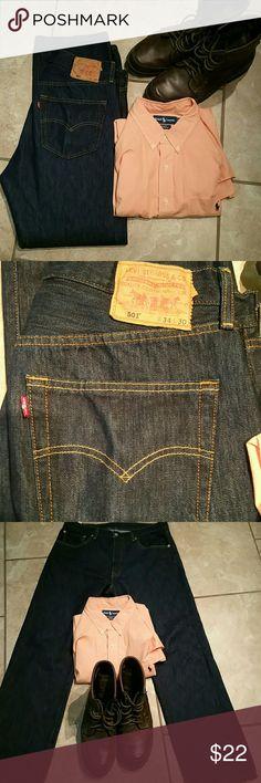 Levis 501 size 34 x 30 Levis Button fly 501 jeans Levi's Jeans Straight