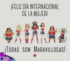 Feliz día internacional a todas esas #wonderwoman!!! #DiaIbternacionalDeLaMujer Women's Day Cards, Lilac Wedding, Feminist Quotes, Class Decoration, Powerful Women, Ladies Day, Weight Loss Motivation, Girl Power, Positivity