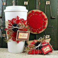 Warm Wishes and Snowflake Kisses - Coffee gift set