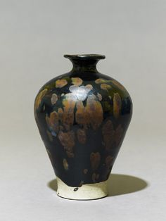 Black ware vase with 'partridge feather' glazes, 11th century, Song Dynasty (AD 960 – 1279)