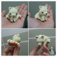"""""""peppermintdiary: Ninetails crochet doll for a friend. :) ADORABLE...... I LOVE ninetails!!""""  Man, I should learn how to crochet just to make a ninetails buddy!"""