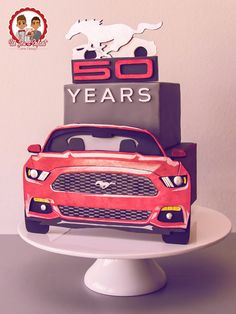 Gâteau 50 ans Ford Mustang - Ford Mustang 50th Anniversary Collaboration…