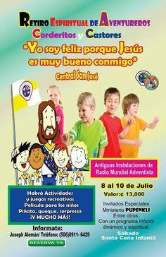 RETIRO Espiritual Aventureros , Corderitos y Castores Central San  José del 8 al 10 de Julio