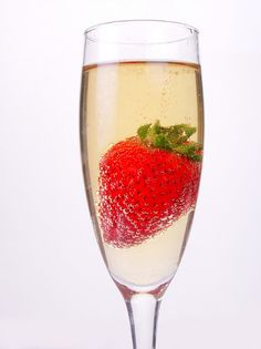 Strawberries and Champagne - no better aphrodisiac