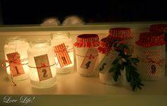 Adventskalender aus Babygläschen / Advent calendar made with baby food jars / Upcycling