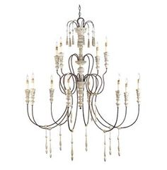 Hannah Swedish Gustavian 3 Tier French Country Chandelier