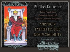 Get in-depth meanings for The Emperor card! Upright & reversed Tarot Card Meanings included for a more detailed Tarot Reading.