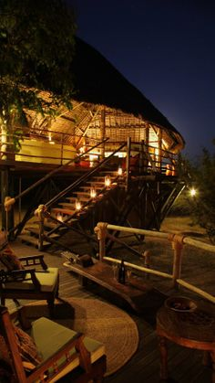 Siwandu (Selous Safari Camp) - Main area - Tanzania / by Neil Rocher Design Beach Properties, Table Seating, Worlds Of Fun, Tent Camping, Tanzania, Lodges, House Design, Patio, Safari