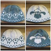 A double knit reversible beanie with the beloved sheep Shaun on the front, and a few members of his herd on the back. Double knit fabrics have their own lining, so this hat is comfortable and warm. Both sides look great, and there are no threads on the inside to bother you.
