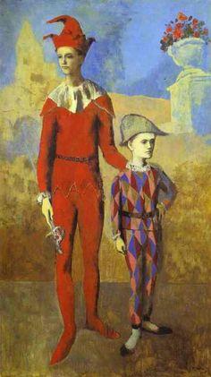 Pablo Picasso >> Acrobat und Young Harlequin