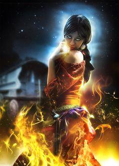 """Gypsy:  """"Gypsy Fire Dancing,"""" by *LuLebel, at deviantART."""