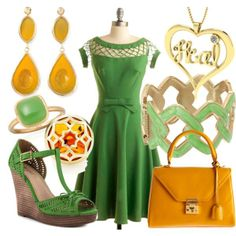 Honey and Leaf Heal by essentialglimmer on Polyvore #Classic design.#Casually Cool!!!#