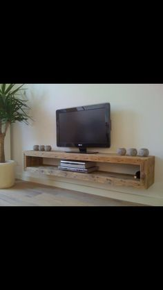 44 Modern TV Stand Designs for Ultimate Home Entertainment Tags: tv stand ideas … - Regal Selber Bauen Tv Stand Modern Design, Tv Stand Designs, Floating Tv Stand, Floating Shelves Diy, Floating Tv Console, Floating Shelf Under Tv, Floating Tv Shelf, Glass Shelves, Wall Shelves