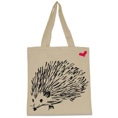 Hedgehog Canvas Tote Bag by WearMeGear on Etsy Need Coffee, Household Items, Canvas Tote Bags, Christmas Posters, Reusable Tote Bags, Handbags, Hedgehogs, My Favorite Things, Winter Dresses