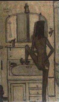Femme a sa toilette by Bernard Buffet