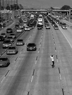 black and white, longboard, skate