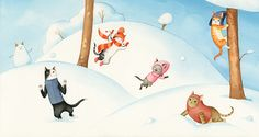Cecil and the Joys of Winter on Behance