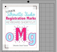 Silhouette Hack: Registration Marks One Click Keyboard Shortcut | Silhouette School | Bloglovin'