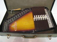 Vintage Autoharp Chromaharp by Rhythm Band Inc. with Hard Case & Tuning Hammer #RhythmBand