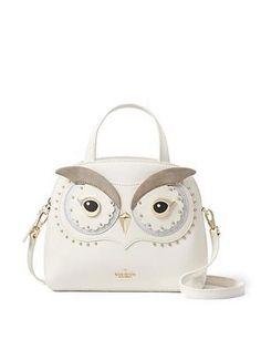 Kate Spade New York Star Bright Owl Small Lottie Satchel Owl Purse, Owl Bags, Animal Bag, Unique Purses, Cute Bags, Crochet Bags, Fashion Bags, Purses And Bags, Satchel