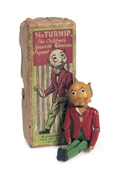 A Long Walk Home: 490 Metal Jointed Doll Mr. Turnip, circa 1955,based upon the character created for the 1950's British television show,Whirligig