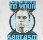 Sheldon I'm Immune to Sarcasm T-Shirt Logo