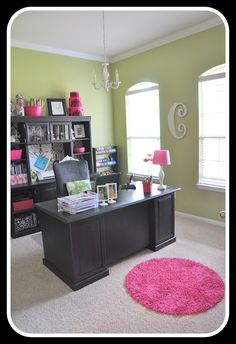 Home office.Love this home office/craft room Decor, Furniture, Craft Room Office, Home Office Decor, Interior, Home, Office Crafts, House Styles, Office Design