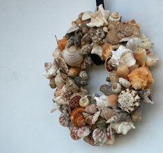 Shell wreath, want to really try one!