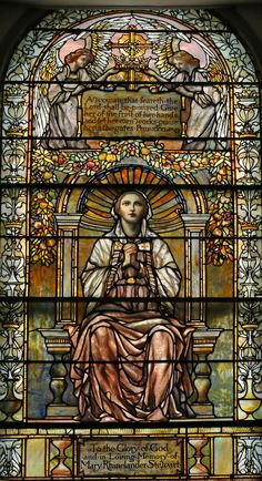 Window from Trinity Church, Newport, R. Photograph by James Russiello Stained Glass Church, Stained Glass Art, Stained Glass Windows, Mosaic Glass, Leaded Glass, Beveled Glass, Mother Of Christ, Mediums Of Art, Angel Pictures