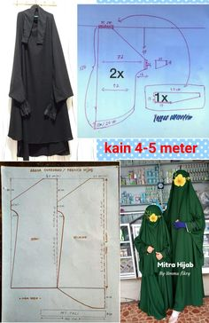 Dog Clothes Patterns, Coat Patterns, Dress Sewing Patterns, Diy Clothes Tutorial, Abaya Pattern, Clothing Store Displays, Hijab Style Tutorial, Niqab Fashion, Stylish Hijab
