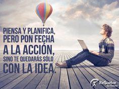 Para lograr cualquier meta, primero piensa y planifica con fecha.