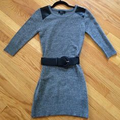 Sweater dress Cute simple sweater dress.   Has 3/4 sleeves does not come with belt. BCX Dresses