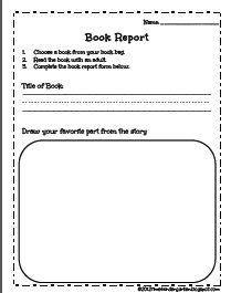 Kindergaten Book Report from Time 4 Kindergarten on TeachersNotebook.com -  (1 page)