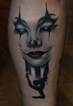 Circus Girl Tattoo