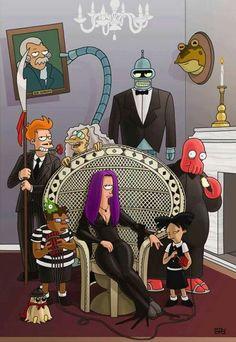 Futurama as the addams family
