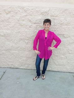 Sheer Top from Rue 21 & Dark Skinny Denim from Ross....check out the blog for more on this look!