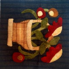 Mindy Smith Block 1 Little Wooly Baskets www.dawnheesequilts.blogspot.com