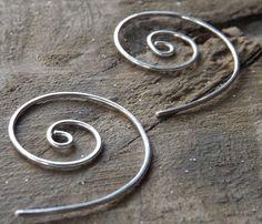 Handmade Jewellery. Earrings Jewelry Modern Sterling Silver by maryannefountain, $26.00 on Etsy