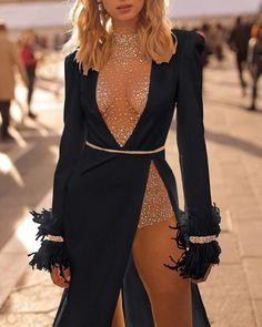 evening dresses Deep V Studded Embellished Evening Dress Elegant Dresses For Women, Sexy Dresses, Cute Dresses, Beautiful Dresses, Fashion Dresses, Prom Dresses, Flapper Dresses, Vintage Dresses, Best Evening Dresses