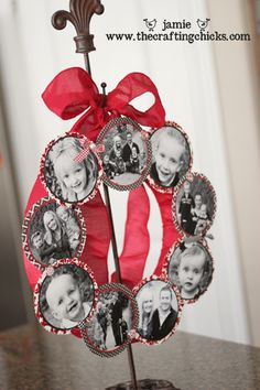 Picture wreath for Christmas or Valentines