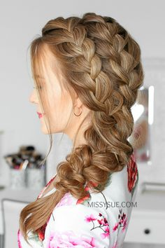 Perfect Double French Braids ❤️ Do not believe in the myth that braided hairstyles are difficult to do. We have picked some braids that are trendy, messy, and, most importantly, easy. Big Box Braids Hairstyles, Face Shape Hairstyles, Kids Braided Hairstyles, Braids For Long Hair, Bob Hairstyles, Straight Hairstyles, Micro Braids, Fishtail Braids, Cornrows