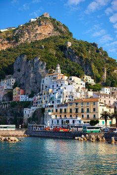 At the Amalfi Coast in Italy.