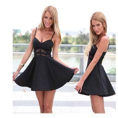 Europe Harness Short Skirt Love this dress My must have little black dress Black dress