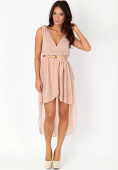 Becci Sheer Asymmetric Midi Dress-  pretty!