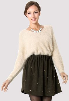 Fluffy Oversize Ivory Jumper - New Arrivals - Retro, Indie and Unique Fashion