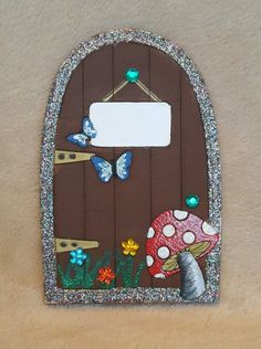 Traditional Personalised wooden hand-painted Glittered tooth fairy faerie elf pixie door - Great Gift by TheLittleFairydoor on Etsy