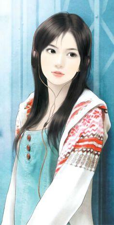 chinese girl y Pretty Anime Girl, Anime Art Girl, Anime Girls, Female Drawing, Female Art, Chinese Drawings, Chinese Art, Harem Girl, Girly Drawings