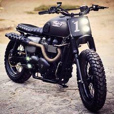 Triumph Bonneville Scrambler by Rajputana Custom Motorcycles. (Via Rocket Garage Café Racer). #triumph #motorcycle #scrambler #motorsports #megadeluxe #tw