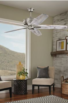 Adding a ceiling fan to your design space helps to keep the air moving. Add a piece that allows you to express your creativity, and design the space of your dreams.  ID #300106B