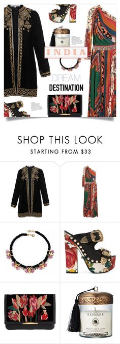 """""""RTD: Tomorrow I'll Go To India!!!"""" by mahafromkailash ❤ liked on Polyvore featuring Bella Tu, Etro, FAUSTO PUGLISI, Lizzie Fortunato and Pottery Barn"""